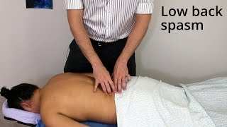 "Video Massage Tutorial: ""I threw my back out!"" (myofascial release for low back spasm) MP3, 3GP, MP4, WEBM, AVI, FLV Januari 2019"