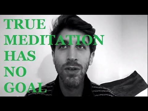 Jeff Foster Video: The True Meaning of Meditation