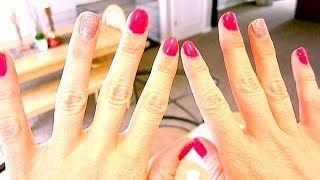 DIY Valentines Nails - YouTube