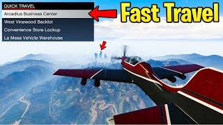 GTA Online: DID YOU KNOW? - How To Fast Travel & Get Across the Map while AFK