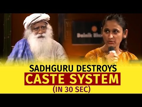 Sadhguru Destroys **caste System** (in 30 Seconds!)