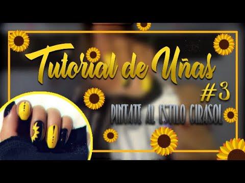 Videos de uñas - PÍNTATE AL ESTILO GIRASOL   TUTORIAL DE UÑAS  - Sary