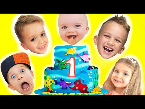 Happy Birthday Christian! First Birthday kids party with Vlad & Niki, Diana and Roma