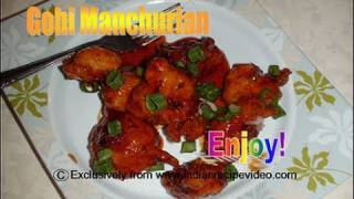 Gobi Manchurian  Recipe Video - Cauliflower Manchurian Video Recipe by Bhavna