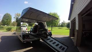 2. 2012 Arctic Cat F5- Unloading it from New York where we bought it