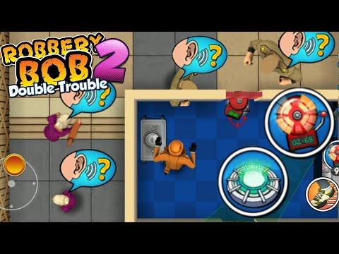 Robbery Bob 2 - Dealer Bob 1 Use Teleportation Mine & Noisemaker #1