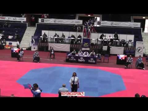74kg Georgii SURKOV (RUS9 vs (LAT) KOPJEVS, Imanto (-21 European TKD Championships 2015) (видео)