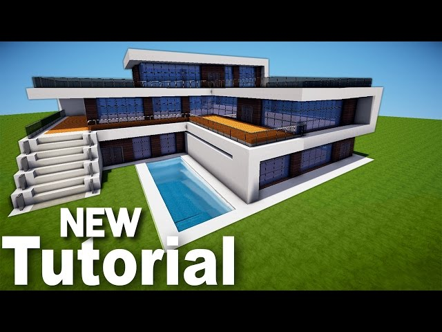 Minecraft how to build a realistic modern house best for Modern house music