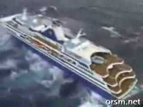 cruise ship capsized - Extremely rough seas.