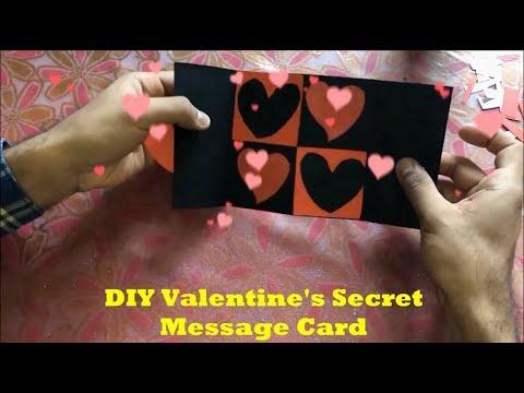 Birthday wishes for best friend - DIY Valentine's Secret Message Card