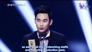 Video [Engsub] 20140527 - Kim Soo Hyun - Popular TV and Movie Actor Award at 50th Baeksang Arts Awards MP3, 3GP, MP4, WEBM, AVI, FLV Maret 2018