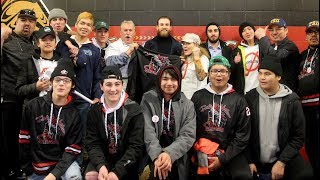 NHLer Ryan O'Reilly meets with First Nation Elites Bantam AAA hockey team