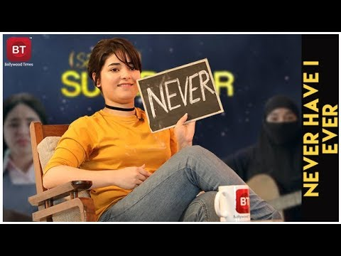 Secret Superstar Actress Zaira Wasim Confess Crying On Sets & Much More | Never Have I Ever