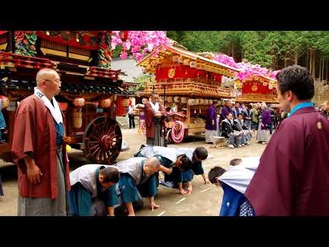 日光二荒山神社 弥生祭 「東西両町家体献備」名刺交換