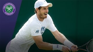 World No. 1 Andy Murray practices on the grass at Wimbledon ahead of his first round match against Kazakhstan's Alexander Bublik. SUBSCRIBE to The Wimbledon...