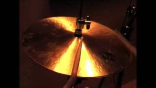 """The """"D"""" Hi-Hats from Diril Cymbals. Relatively heavy Hats, nice solid sound. The top cymbals weighs 1120 Grams, and the bottom 1500.These videos are intended only as a guide. I am uploading them because there are very few samples of Diril Cymbals available. Please do not judge the actual sound of the cymbals based on these videos, they are so much better than my humble recording equipment could ever illustrate."""