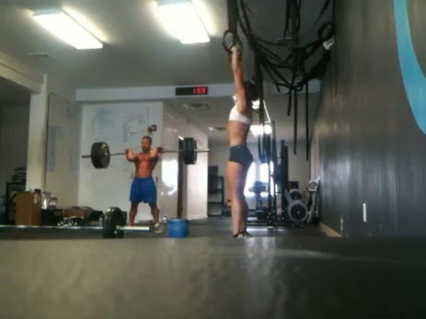 Crossfit KOB front squat/muscle up