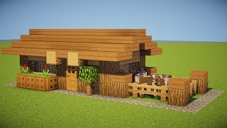 SMALL SURVIVAL HOUSE TUTORIAL - Tiny & Cute
