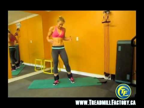 Abdominal & Butt Exercises in 5 minutes! filmed in Canada using Ankle Weights by Kasia Sitarz