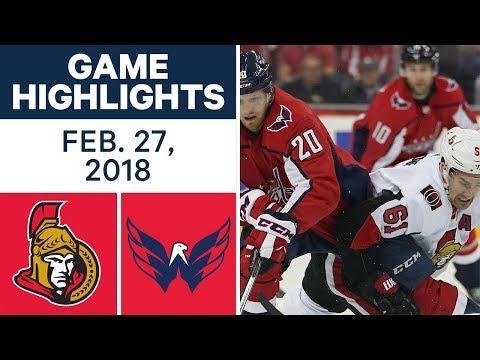 Video: NHL Game Highlights | Senators vs. Capitals - Feb. 27, 2018