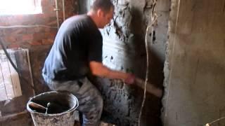 Штукатурка стен раствором своими руками видео