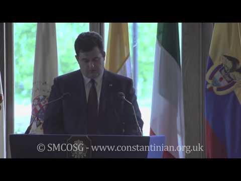 Ordine Constantiniano 2013 – Discorso del Delegato Anthony Bailey in occasione dell'investitura del Presidente della Colombia