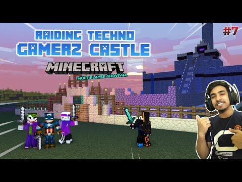 RAIDING TECHNO GAMERZ CASTLE GONE WRONG   MINECRAFT GAMEPLAY [HINDI]