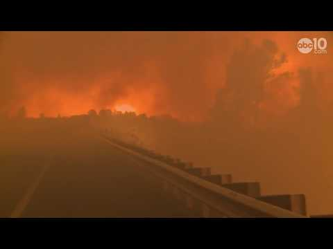 RAW: Camp Fire blaze rages in Butte County, California