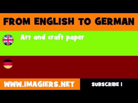 DEUTSCH   ENGLISCH  = Kunstdruckpapier