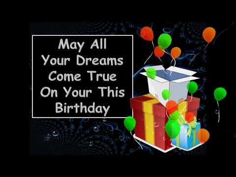 Happy birthday quotes - Happy Birthday Wishes Greeting Message Video with music