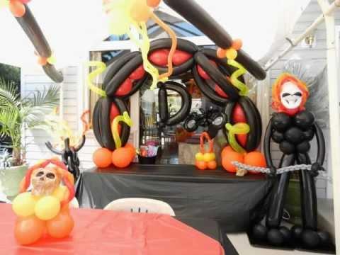Ghostrider Theme Balloon Decor