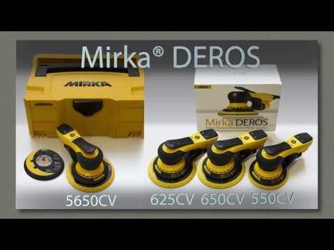 Mirka® DEROS -- уникальная электрическая шлифовальная машинка для сектора строительства и отделки