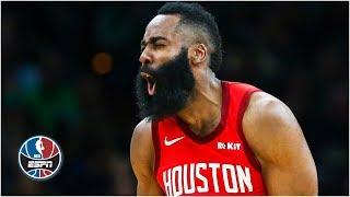 James Harden goes off for 42 as Rockets down Celtics   NBA Highlights
