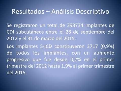 Tendencias y resultados del CDI subcutáneo. Residencia de Cardiología. Hospital C. Argerich. Buenos Aires
