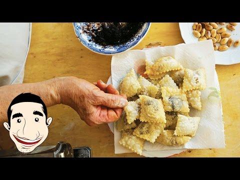 SWEET FRIED RAVIOLI RECIPE | Caggiunitt Abruzzesi made by Nonna Igea | Italian Fried Cookies