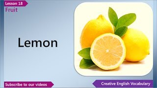Learn English - English Vocabulary Lesson 18 - Fruit | Free English Lessons, ESL English Lessons