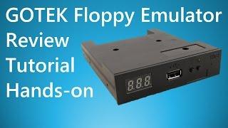 GOTEK USB Floppy Emulator Simulator Review Tutorial