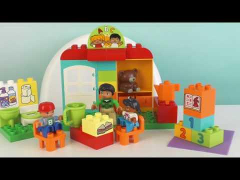 Играем в Детский сад Лего Дупло 10833 Конструктор Lego Duplo Видео для детей обзор игры дети