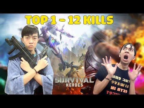 CrisDevilGamer TOP 1 12 KILLS trong SURVIVAL HEROES GAMOTA - Thời lượng: 11:51.
