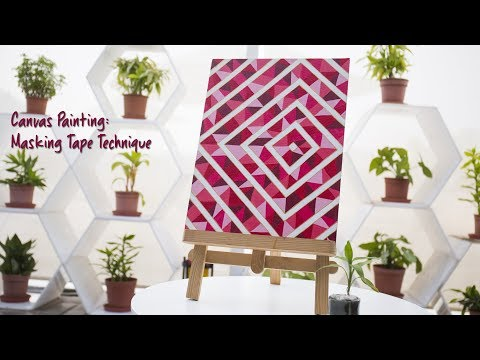 Canvas Painting: Masking Tape Technique
