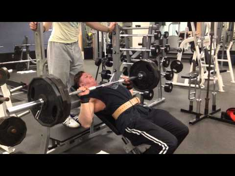 Incline bench 315lb for 7 paused