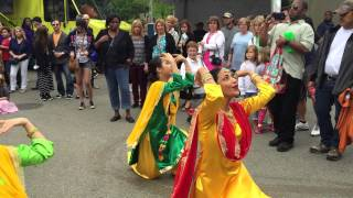 Sanam Studios dancers perform a Sindhi dance at the Atlanta Dogwood Festival, 2015, as part of the Pakistani American Cultural ...