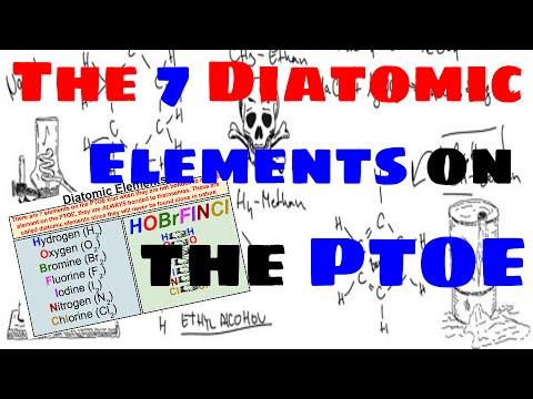 The Seven Diatomic Elements - Explained