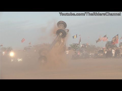 Sand buggy flips after driver loses control