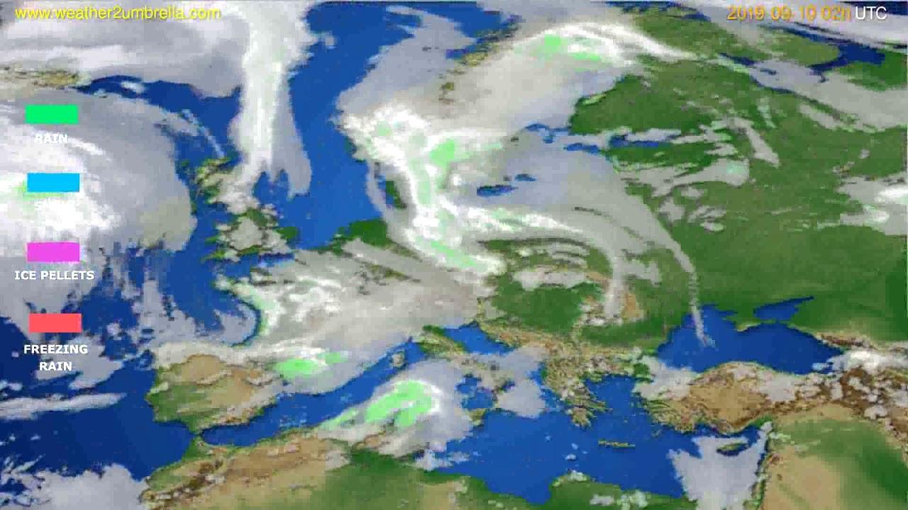 Precipitation forecast Europe // modelrun: 12h UTC 2019-09-07