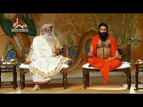 Baba Ramdev with Sadhguru in Isha Yoga Center