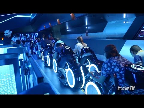 The TRON rollercoaster in Shanghai Disney is remarkable