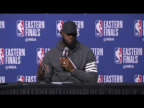 LeBron James & Kevin Love Postgame Interview | Cavaliers vs Celtics Game 2