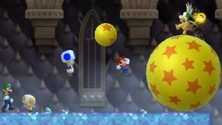 Download Lagu New Super Mario Bros Wii - All Castle Bosses (4 Players) Mp3