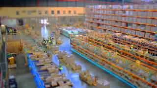 Réalisation d'un effet tilt shift pour la visite d'une entrepôt logistique